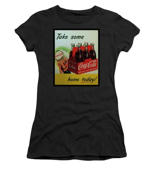 Women's T-Shirt (Athletic Fit) featuring the photograph Coca Cola Antique Sign by Chris Flees