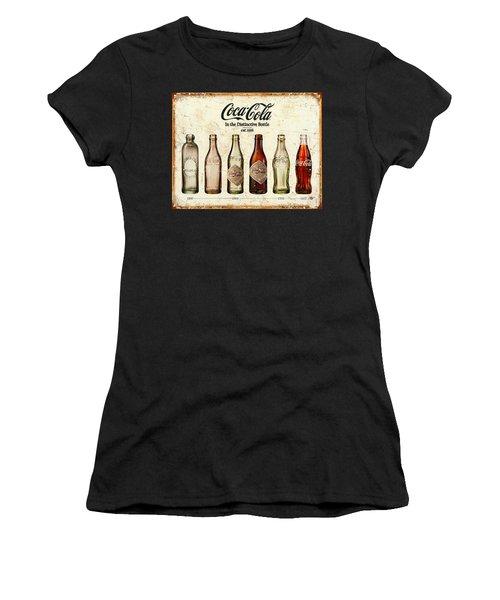 Coca-cola Bottle Evolution Vintage Sign Women's T-Shirt