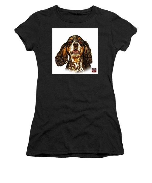 Cocker Spaniel Pop Art - 8249 - Wb Women's T-Shirt (Junior Cut) by James Ahn