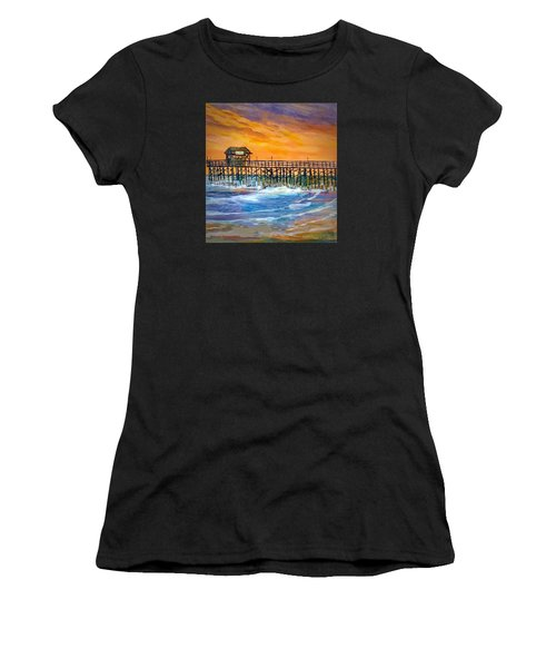 Cocoa Beach Pier Women's T-Shirt (Athletic Fit)