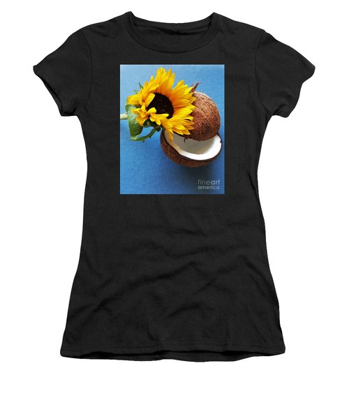 Coconut And Sunflower Harmony Women's T-Shirt (Junior Cut) by Jasna Gopic