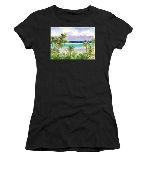 Coconut Palms And Lagoon, Aitutaki Women's T-Shirt