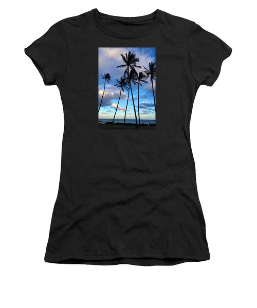 Coconut Palms Women's T-Shirt (Junior Cut) by Brenda Pressnall