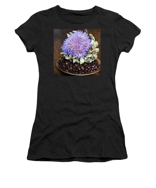 Coffee Beans And Blue Artichoke Women's T-Shirt