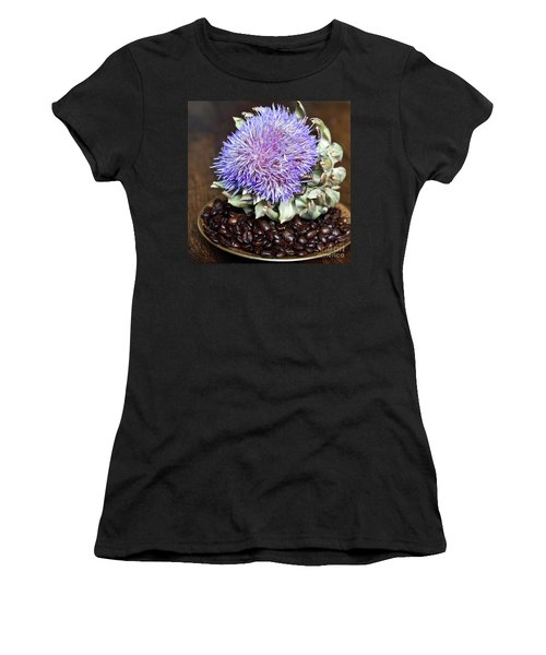 Coffee Beans And Blue Artichoke Women's T-Shirt (Athletic Fit)