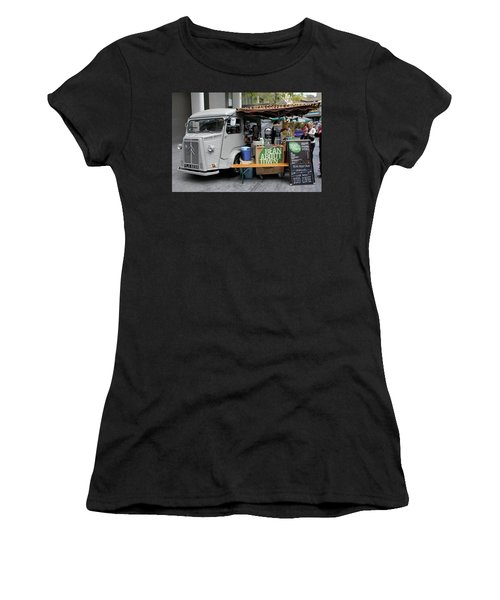 Women's T-Shirt (Junior Cut) featuring the photograph Coffee Truck by Christin Brodie
