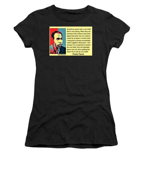 Cognitive Dissonance Frantz Fanon Women's T-Shirt (Athletic Fit)