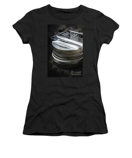 Coins Of Silver Stacking Women's T-Shirt