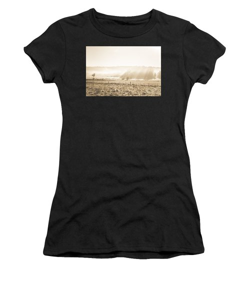 Cold Mysterious Winter Prairie Women's T-Shirt
