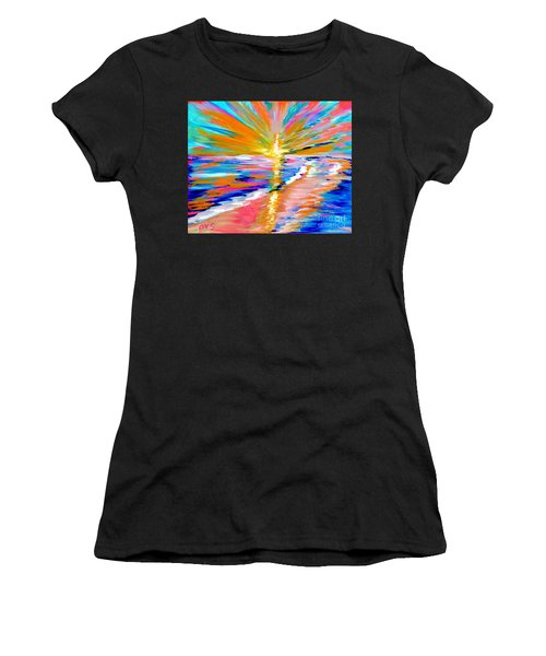 Collection Art For Health And Life. Painting 5. Energy  Of  Life Women's T-Shirt (Athletic Fit)