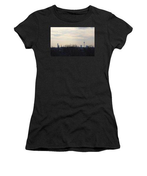 Cologne Skyline  Women's T-Shirt (Junior Cut) by Michael Paszek