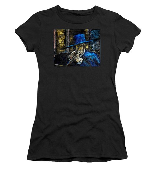 Women's T-Shirt (Junior Cut) featuring the painting Colonel Mortimer's Shot by Seth Weaver