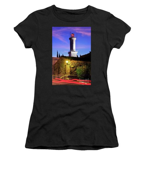 Women's T-Shirt (Junior Cut) featuring the photograph Colonia Lighthouse by Bernardo Galmarini