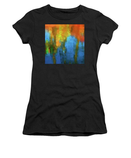 Color Abstraction Xxxi Women's T-Shirt (Athletic Fit)