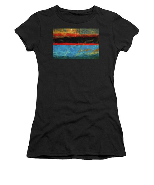 Color Abstraction Xxxix Women's T-Shirt (Athletic Fit)