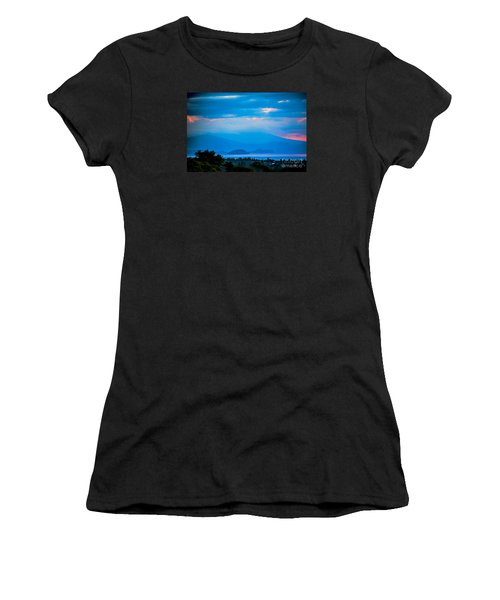 Women's T-Shirt (Junior Cut) featuring the photograph Color Over The Lake by Rick Bragan