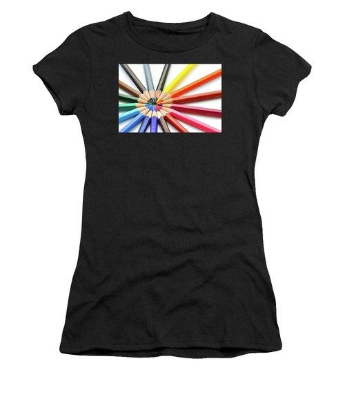 Color Pencils Women's T-Shirt (Athletic Fit)