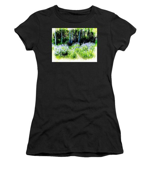 Colorado Apens And Flowers Women's T-Shirt (Junior Cut) by Joseph Hendrix