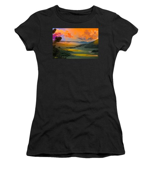 Colorado Big Valley Sunrise Women's T-Shirt (Athletic Fit)