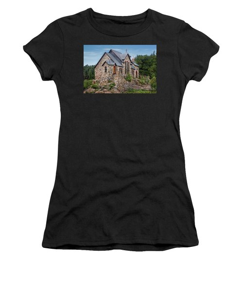 Women's T-Shirt featuring the photograph Colorado Chapel On The Rock by James Woody