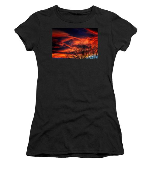 Colorado Fire In The Sky Women's T-Shirt (Athletic Fit)