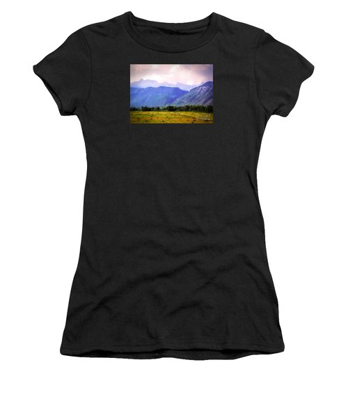 Colorado Harvest Watercolor  Women's T-Shirt (Athletic Fit)