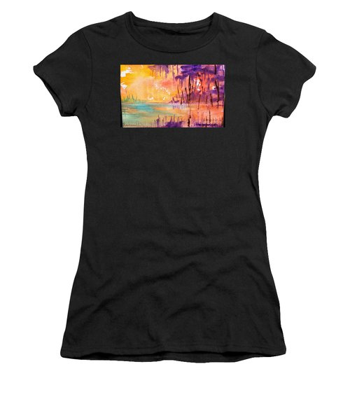 Colorful Bayou Women's T-Shirt (Athletic Fit)