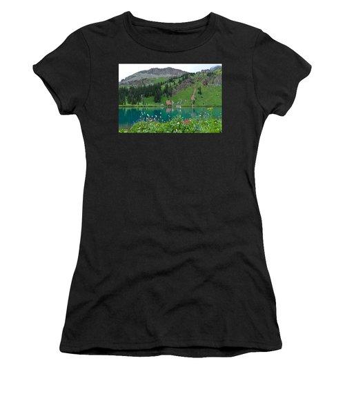 Colorful Blue Lakes Landscape Women's T-Shirt