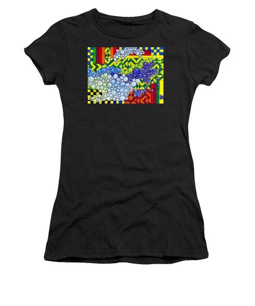 Colorful Bubbles On Tiles Women's T-Shirt (Athletic Fit)