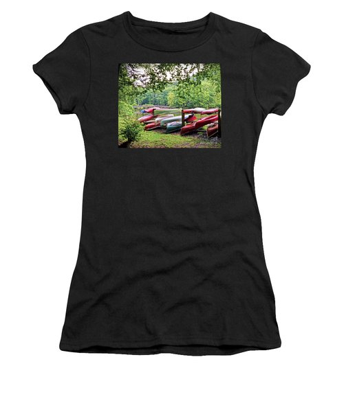Colorful Canoes At Hungry Mother State Park Women's T-Shirt