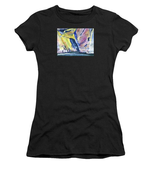 Colorful Cliffs And Cave Women's T-Shirt