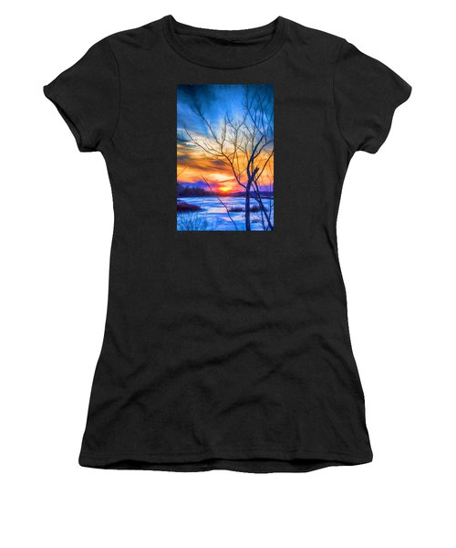 Colorful Cold Sunset Women's T-Shirt (Athletic Fit)