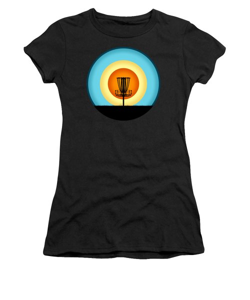 Colorful Disc Golf Basket Women's T-Shirt