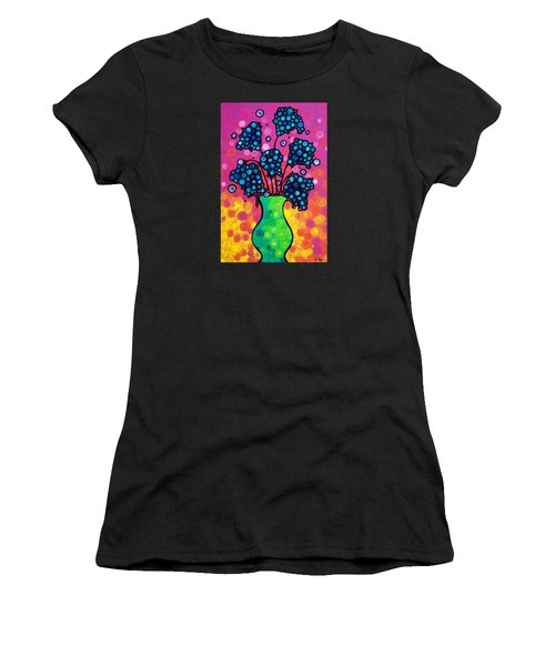 Colorful Flower Bouquet By Sharon Cummings Women's T-Shirt (Athletic Fit)