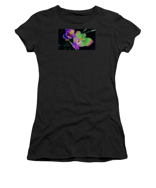 Colorful Flowers Women's T-Shirt (Athletic Fit)