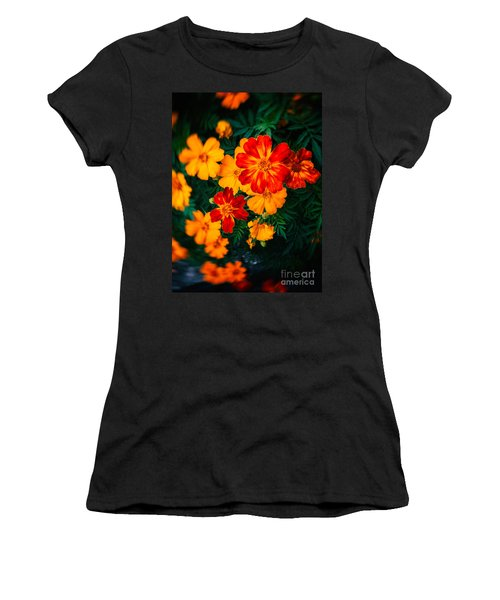 Women's T-Shirt (Junior Cut) featuring the photograph Colorful Flowers by Silvia Ganora