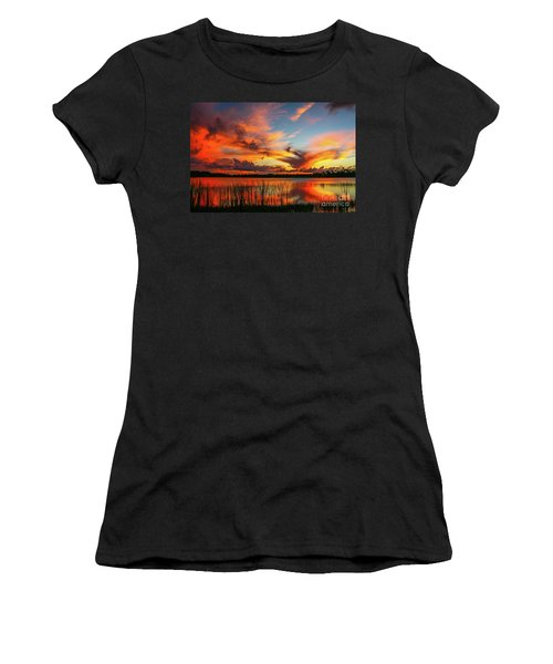 Colorful Fort Pierce Sunset Women's T-Shirt (Athletic Fit)