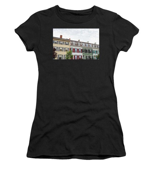 Colorful Historic Row Houses Women's T-Shirt