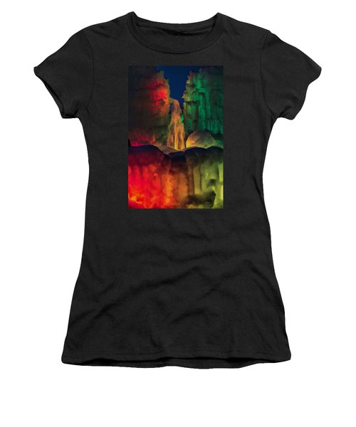Colorful Ice  Women's T-Shirt (Athletic Fit)