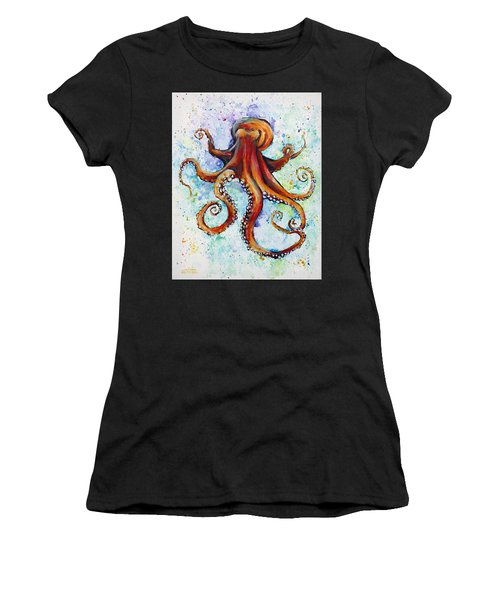 Colorful Ink Women's T-Shirt (Athletic Fit)