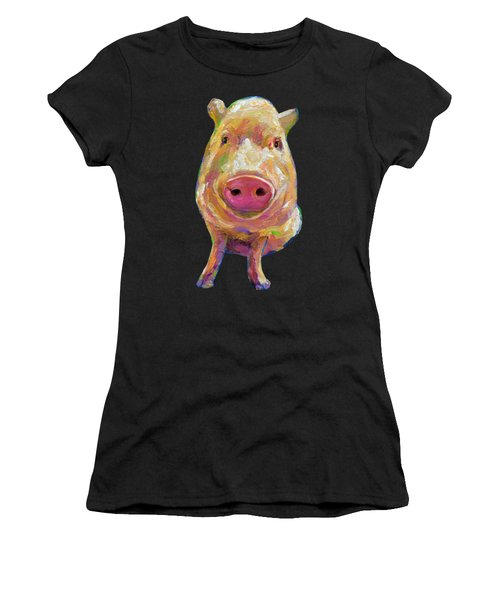 Colorful Pig Painting Women's T-Shirt (Athletic Fit)