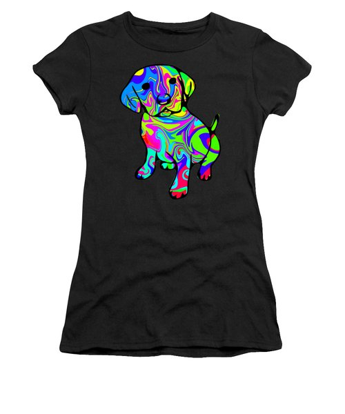 Colorful Puppy Women's T-Shirt
