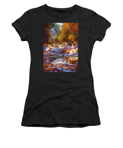 Colorful River Women's T-Shirt (Athletic Fit)