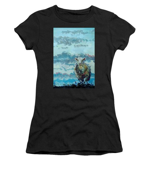 Colorful Sheep Art - Out Of The Stormy Sky Women's T-Shirt
