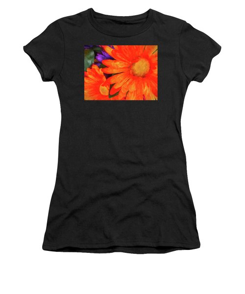 Women's T-Shirt (Athletic Fit) featuring the photograph Colorful Silk Flowers by SR Green