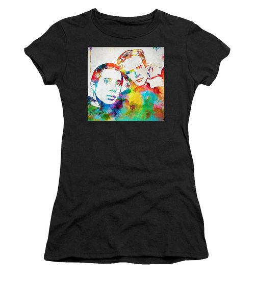 Colorful Simon And Garfunkel Women's T-Shirt