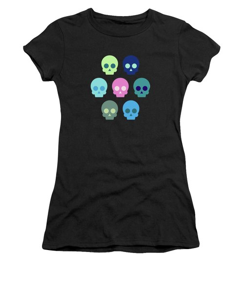 Colorful Skull Cute Pattern Women's T-Shirt