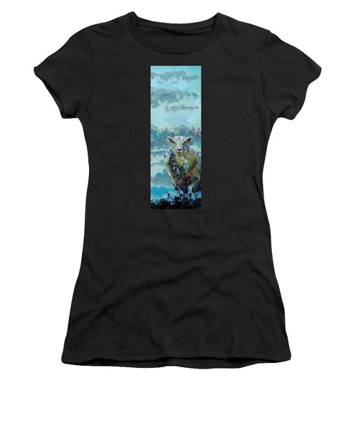Colorful Sky And Sheep - Narrow Painting Women's T-Shirt