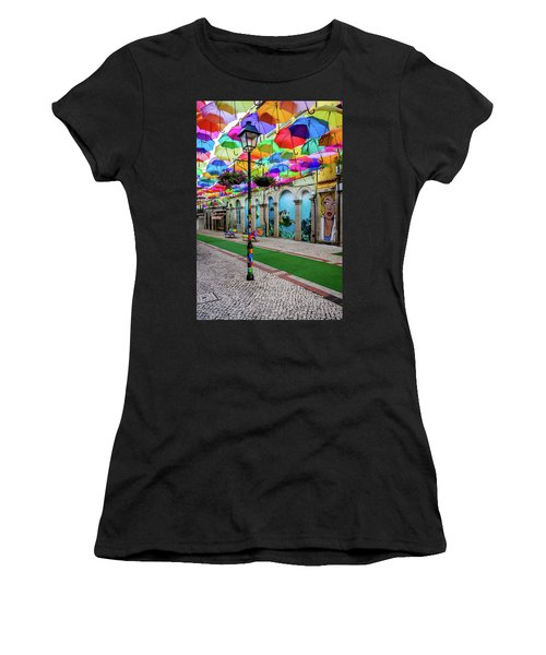 Colorful Street Women's T-Shirt (Athletic Fit)