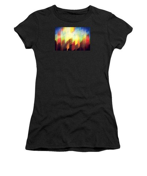 Colorful Urban Design Women's T-Shirt (Athletic Fit)